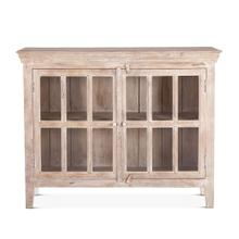 "Coral Gables 52"" Whitewash Glass Cabinet"