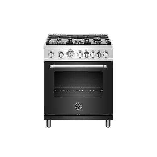 30 inch All Gas Range, 5 Burners Nero Matt
