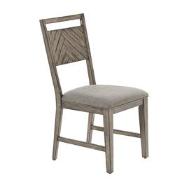 Upholstered Dining Chairs, Set of 2 - Smokey Oak Finish