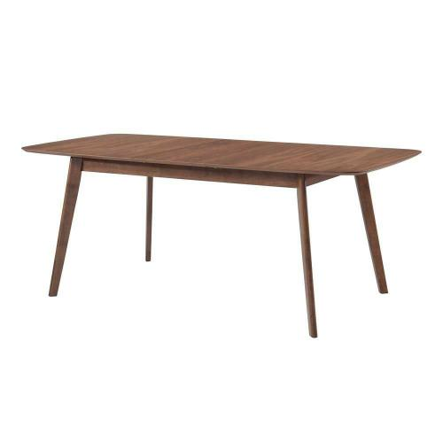Redbridge Mid-century Modern Natural Walnut Dining Table