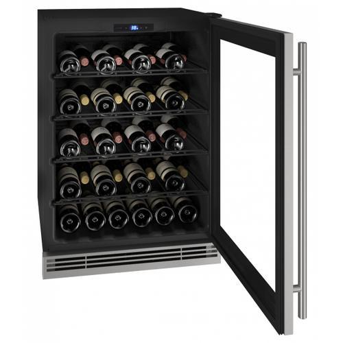 "Hwc024 24"" Wine Refrigerator With Stainless Frame Finish (115v/60 Hz Volts /60 Hz Hz)"