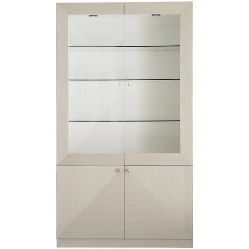 Axiom China Cabinet in Linear Gray (381), Linear White (381)