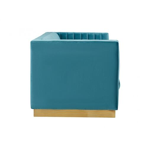 VIG Furniture - Divani Casa Oneida Modern Blue Velvet Sofa