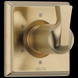 Champagne Bronze 6-Setting 3-Port Diverter Trim Product Image