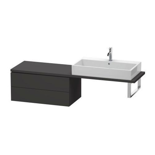 Duravit - Low Cabinet For Console Compact, Graphite Super Matte