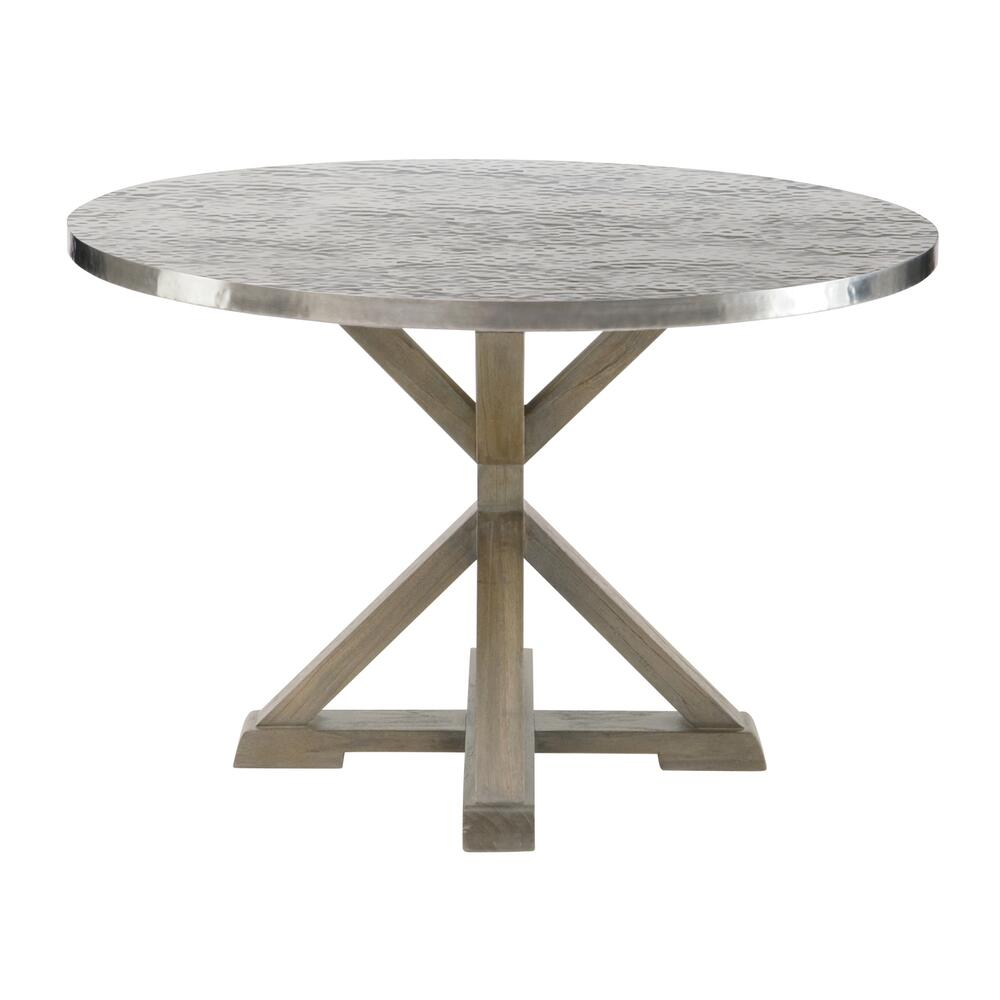 Stockton Round Metal Dining Table in Portobello
