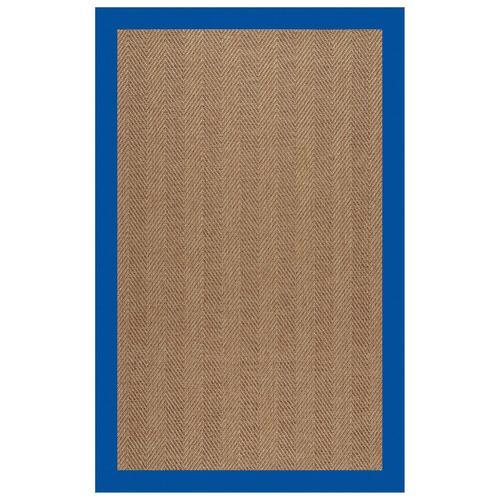 "Capel Rugs - Islamorada-Herringbone Canvas Pacific Blue - Rectangle - 24"" x 36"""