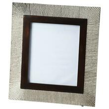 This distinctive picture frame is certain to be the finishing touch in your space. Featuring finish, it is hand crafted from mango wood solids, aluminum.