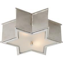 View Product - Alexa Hampton Sophia 2 Light 14 inch Polished Nickel Flush Mount Ceiling Light