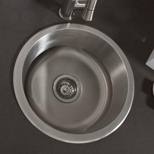 American Standard - Portsmouth 16-inch Round Bar Sink  American Standard - Stainless Steel