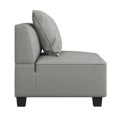 Gallery - Armless Chair with 1 Pillow