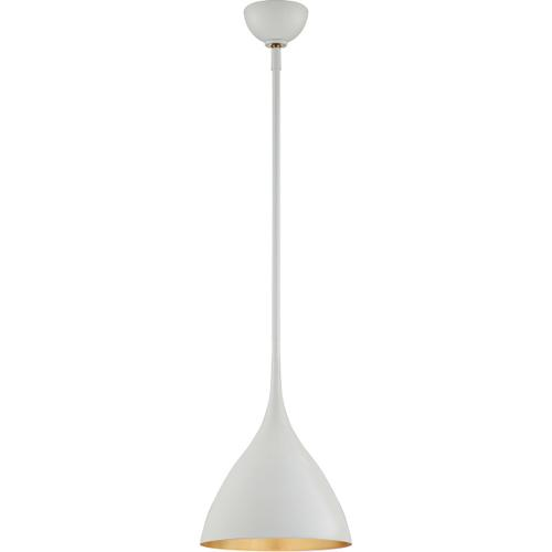 AERIN Agnes 1 Light 10 inch Plaster White Pendant Ceiling Light, Small