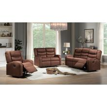 Deana Brown Reclining Loveseat
