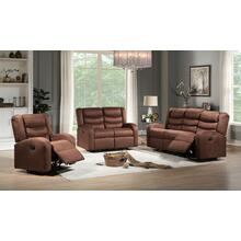 Deana Brown Sofa and Loveseat 2PC Set