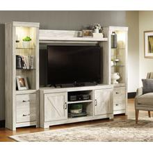 4 PIECE ENTERTAINMENT WALL UNIT