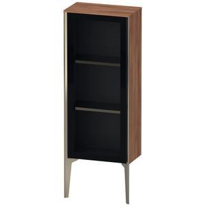 Semi-tall Cabinet With Mirror Door Floorstanding, Natural Walnut (decor)