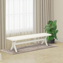 15x72 in Dining Bench with Wirebrushed Linen White Leg and Linen White Top finish