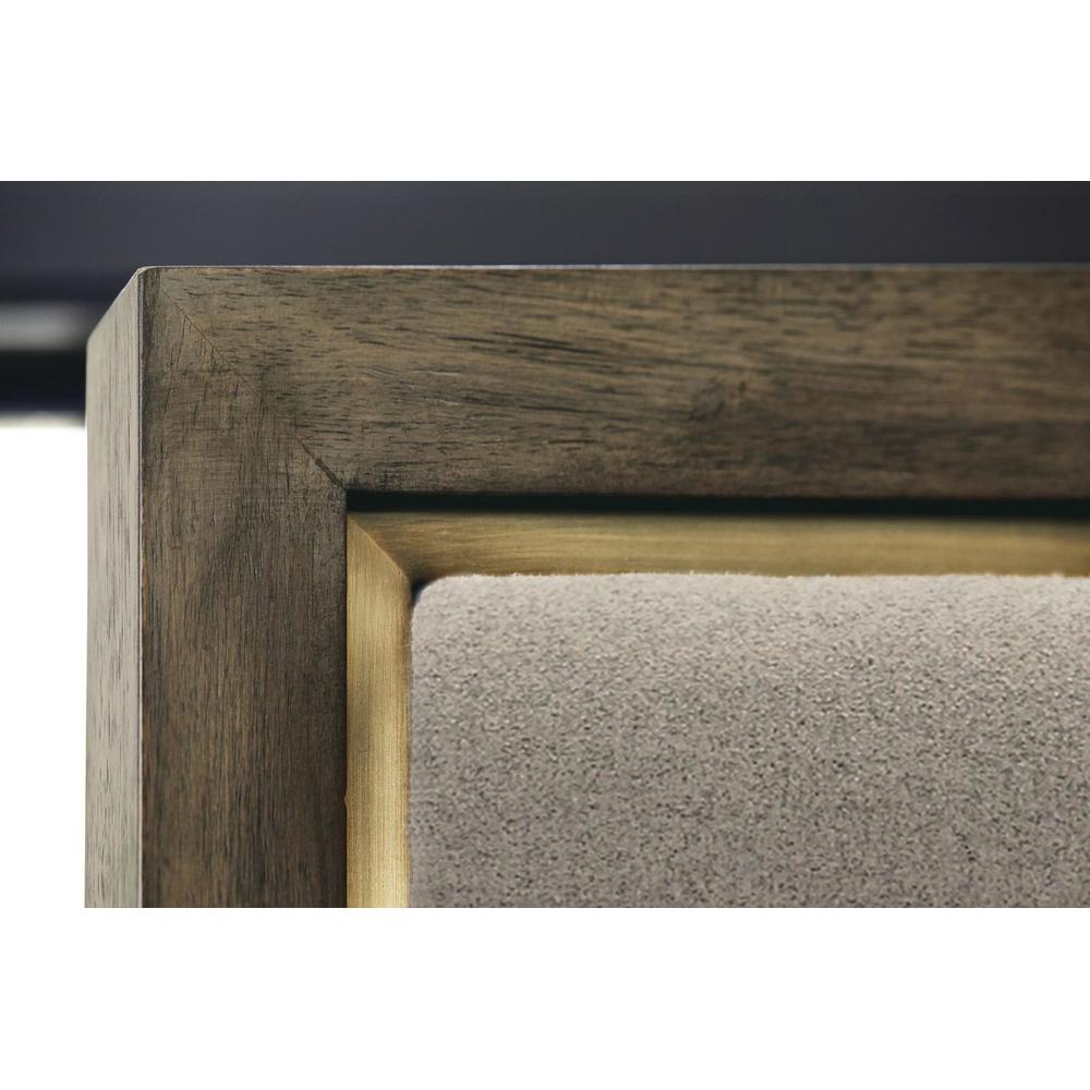 King Profile Panel Bed in Warm Taupe (378)