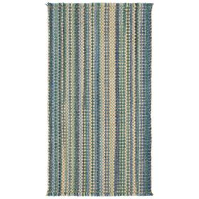 Hampton Seaglass Blue Flat Woven Rugs