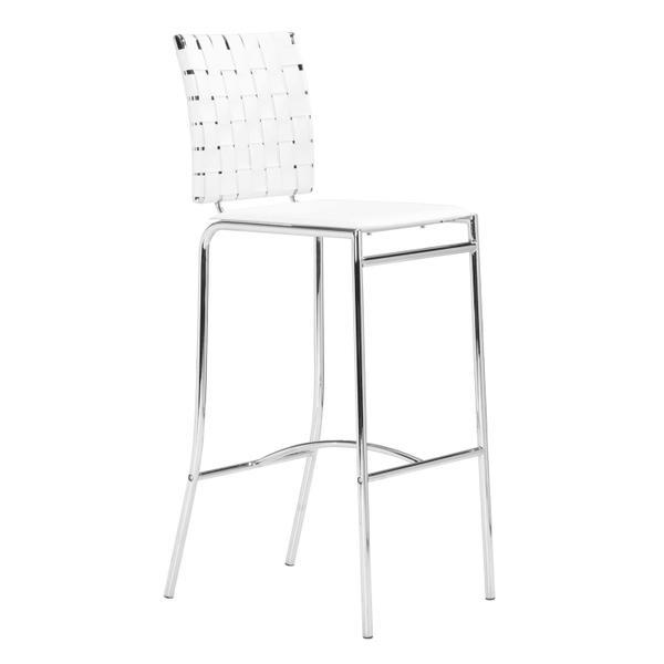 See Details - Criss Cross Bar Chair White