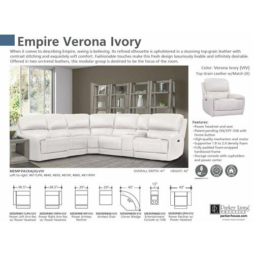 EMPIRE - VERONA IVORY 6pc Package A (811LPH, 810P, 850, 840, 860, 811RPH)