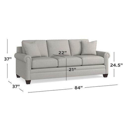 Carolina Panel Arm Sofa