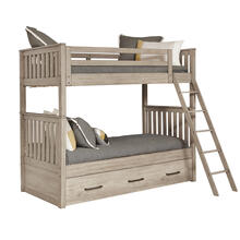 Kids Bunk Bed End in River Birch Brown in River Birch Brown