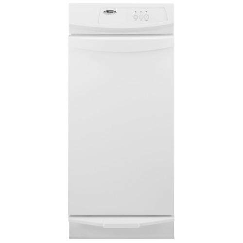 Whirlpool - 15-inch Convertible Trash Compactor