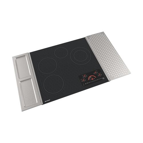 "24"" Drop-In Radiant Cooktop with Side Accessories"