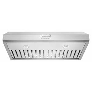 """KitchenAid36"""" 585 CFM Motor Class Commercial-Style Under-Cabinet Range Hood System - Stainless Steel"""