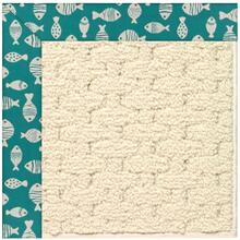 "Creative Concepts-Sugar Mtn. Go Fish Turquoise - Rectangle - 24"" x 36"""