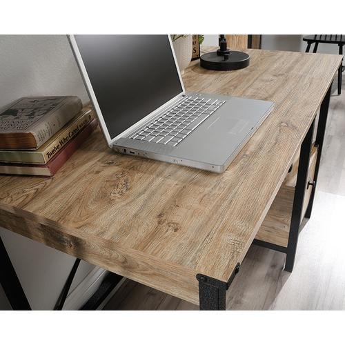 Sauder - Industrial Metal & Wood Pedestal Desk