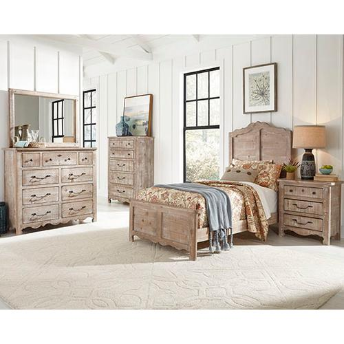 Twin Complete Bed - Chalk Finish