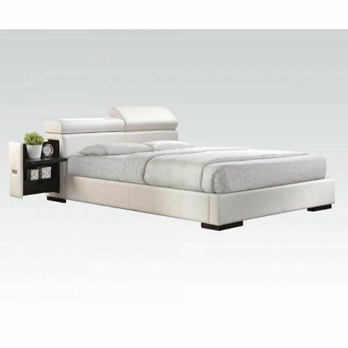 ACME Manjot Eastern King Bed - 20417EK KIT - White PU