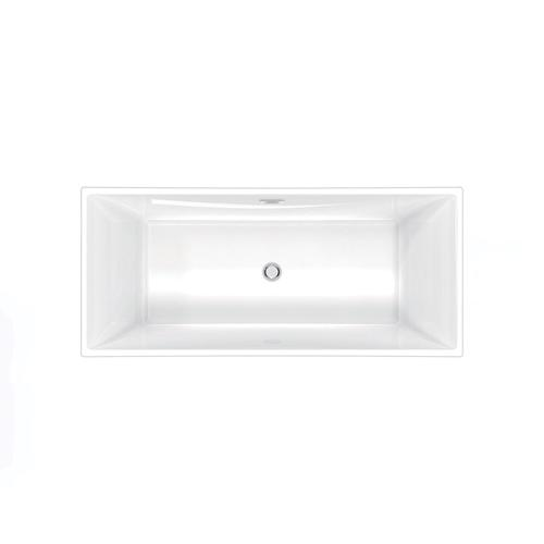 """Product Image - Simone 67"""" Acrylic Tub with Integral Drain and Overflow - Polished Nickel Drain and Overflow"""