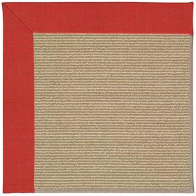 Creative Concepts-Sisal Dupione Crimson Machine Tufted Rugs