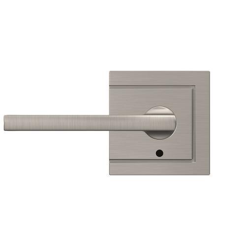 Custom Latitude Lever with Upland Trim Hall-Closet and Bed-Bath Lock - Satin Nickel