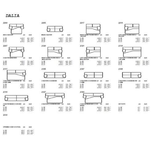 VIG Furniture - Estro Salotti Dalia Modern Grey Leather Sofa Bed