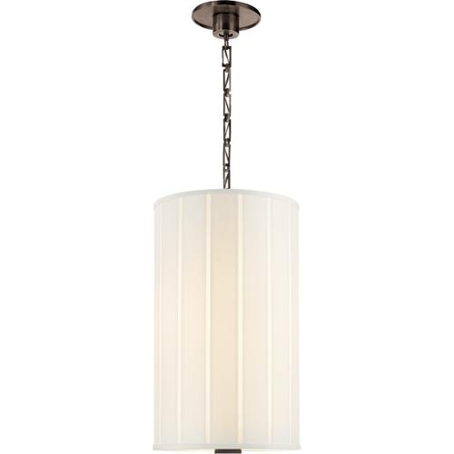Visual Comfort - Barbara Barry Perfect Pleat 2 Light 13 inch Bronze Hanging Shade Ceiling Light
