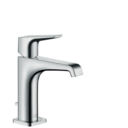 Chrome Single-Hole Faucet 125 with Lever Handle and Pop-Up Drain, 1.2 GPM