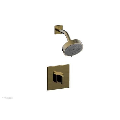 MIX Pressure Balance Shower Set - Blade Handle 290-21 - Antique Brass