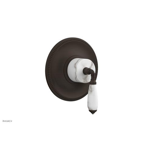 Phylrich - VALENCIA - Thermostatic Shower Trim, White Marble Lever Handle TH338B - Antique Bronze