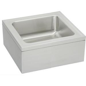"Elkay Stainless Steel 25"" x 23"" x 8"" Single Bowl, Floor Mount Service Sink Package Product Image"
