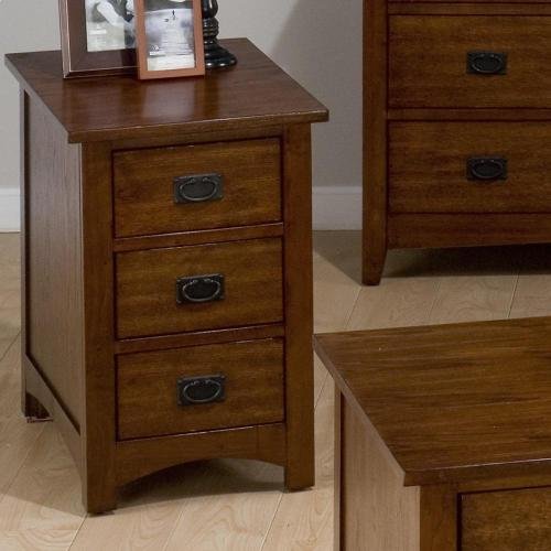 Jofran - Chairside Table W/ 3 Drawers