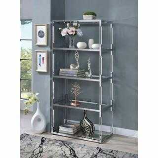 ACME Raegan Side Pier - 91246 - Clear Acrylic - Chrome & Clear Glass
