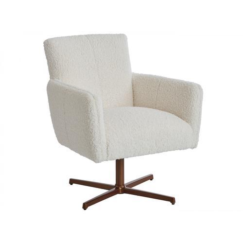 Brooks Swivel Chair - Calais Brass