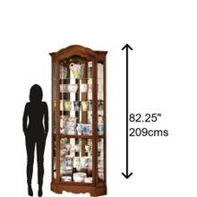 Product Image - Howard Miller Jamestown II Curio Cabinet 680250