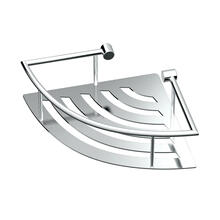 See Details - Elegant Corner Shelf with Rails in Chrome