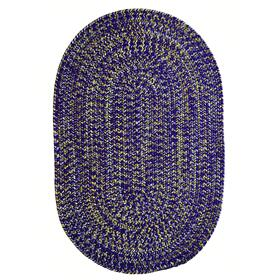 Team Spirit Purple Gold Braided Rugs