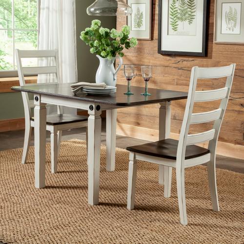 Intercon Furniture - Glennwood Chair  White & Charcoal